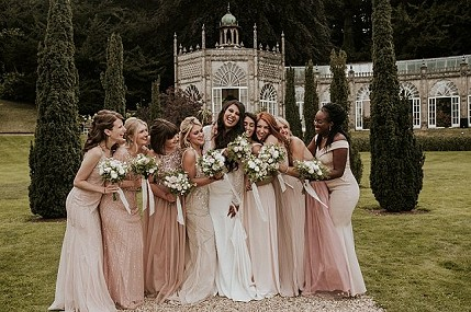Autumn wedding at Sezincote House, Cotswolds