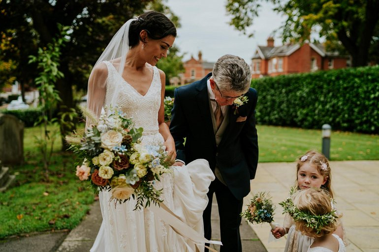 Autumn wedding flowers at Blackwell Grange