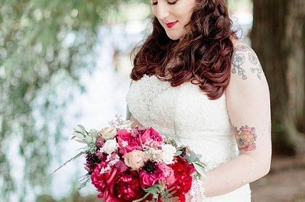 Vintage inspired wedding flowers and styling - Royal Shakespeare Theatre, Stratford-upon-Avon, Warwickshire