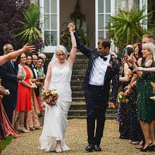 Colourful Cotswolds Wedding